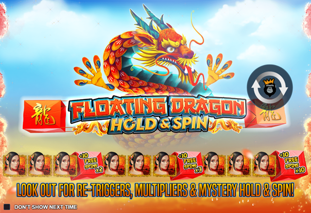 floating dargon hold and spin slot