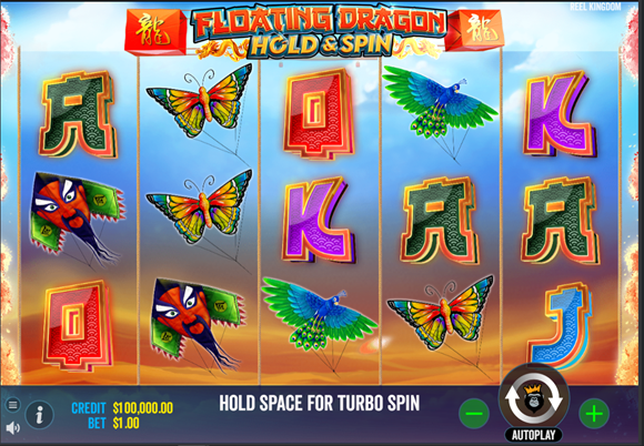 floating dragon hold and spin slot main screen