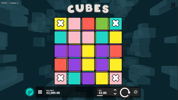 Cubes 2 slot game screen