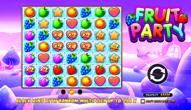 fruit party slot intro screen